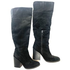 Charlotte Russe Black High Over the Knee Boots